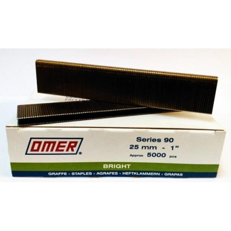 Grapa Serie 90 de 25 mm - Omer - caja de 5000