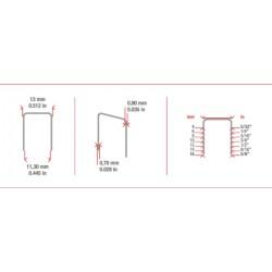 Grapa Serie 80 de 8 mm - Simes - caja de 10000