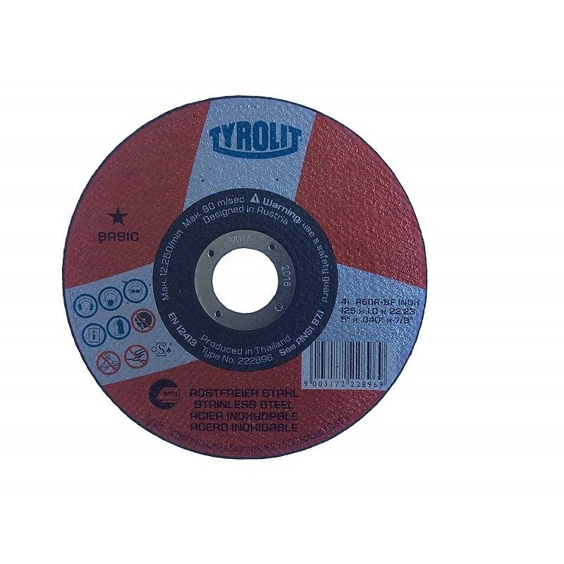 Caja de 25 Discos de Corte 222894 Basic, A660R-BFINOX, 115x1x22.23 mm - Tyrolit