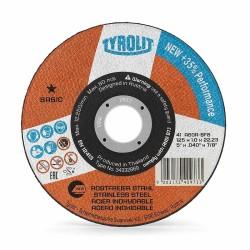 Caja de 25 Discos de Corte 34332869 Basic, A660R-BFB, 125x1x22.23 mm - Tyrolit