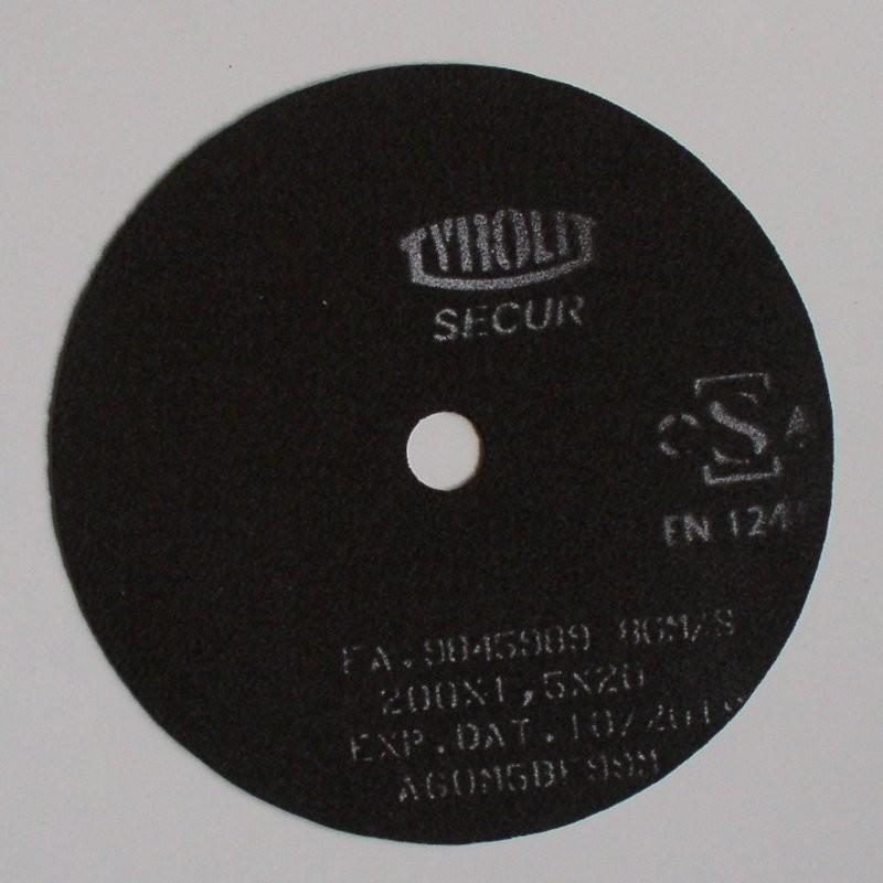Disco de Corte SECUR PREMIUM, A60M5BF99M, 200x1.5x20 mm - Tyrolit