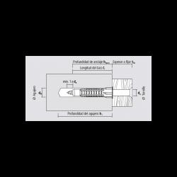 Taco multimaterial MZK 6x41mm - Apolo Mea - Caja 100 unidades
