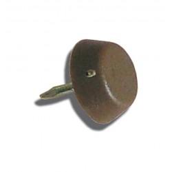 Deslizante con punta, diámetro 15 mm, color marrón - Bolsa 1000 unidades
