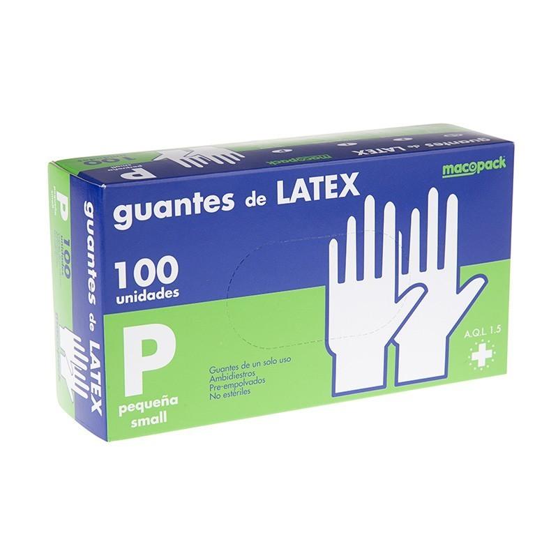 Guantes de Examen de Latex, Con Polvo, No Estéril - Macopack -  100 unidades
