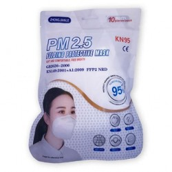 Mascarilla KN95 Sin Válvula PM 2.5 FFP2 - Zhong Jianle - 10 Unidades