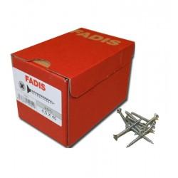 500 Tornillos 4.5x35 mm. C/Plana PZ Rosca completa - FADIS - Galvanizados