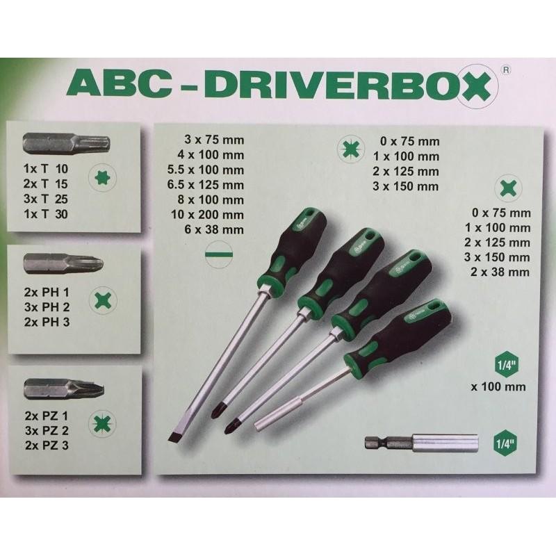 Caja de desatornilladores ABC Driverbox