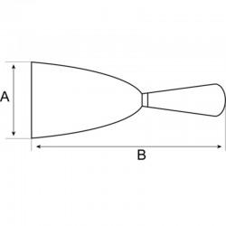 Espátula Mango de Plástico de Acero al Carbono con virola - Bahco - Unidad