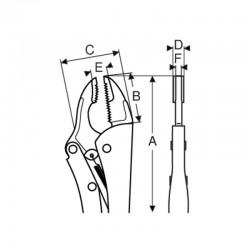 Mordaza grip bocas recta y convexa ref. 2968-235 - Bahco - Unidad