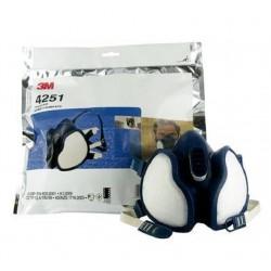 Media máscara sin mantenimiento ref 4251 con filtros FFA1P2R D - 3M - Unidad