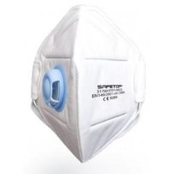 Mascarilla Plegada FFP3NR 31700 - Safetop - Caja de 12 Unidades