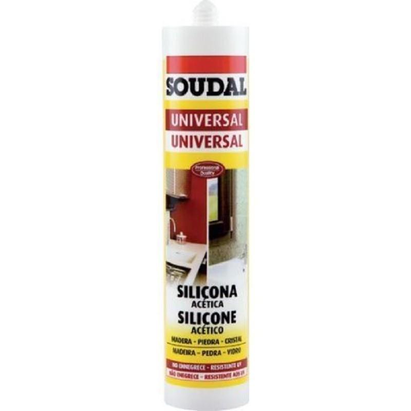 Cartucho de Silicona Acética Universal - Soudal - 280 ml