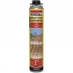 Cartucho de Espuma Pu para Pegado de Tejas - Soudal- 750 ml