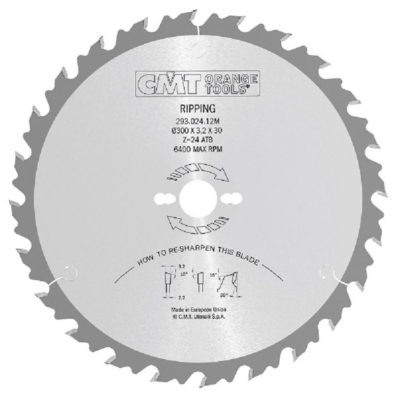 Sierra Circular de Dientes Alternos con limitador Serie 285 Diámetro 450 mm 36 dientes eje 30 mm - CMT