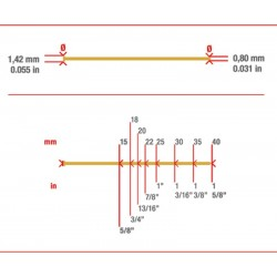 Caja de 10000 MiniBrad 0.8 de 20 mm - Simes
