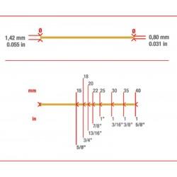 Caja de 5000 MiniBrad 0.8 de 35 mm - Simes