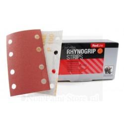 50 Tiras Abrasivos Rhynogrip RedLine 92x178 mm (4+4 agujeros) - INDASA