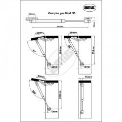 Plano Compás gas modelo 95 hasta 8Kgrs. - Amig - Unidad