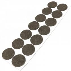 Hoja de 14 fieltros redondos adhesivos de 32 mm diámetro - Bersumi